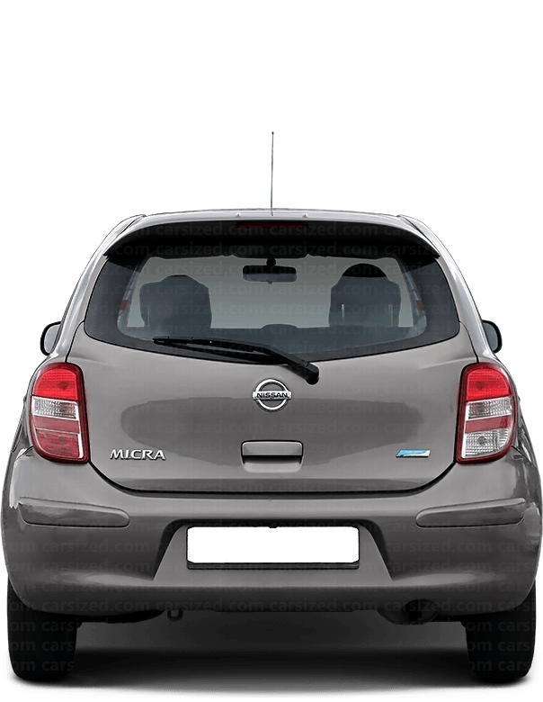 Nissan Micra Hatchback 2010-2017 Rear View