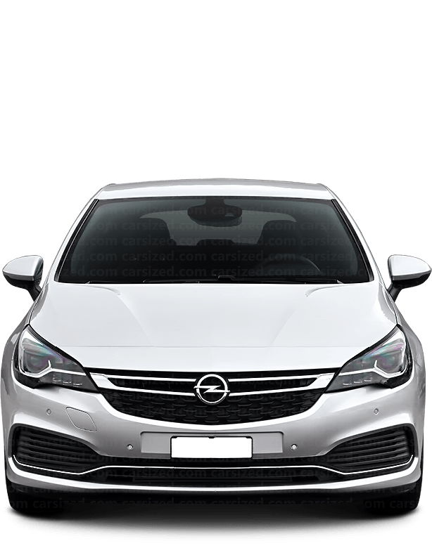 Opel Astra Hatchback 2015-present Front View