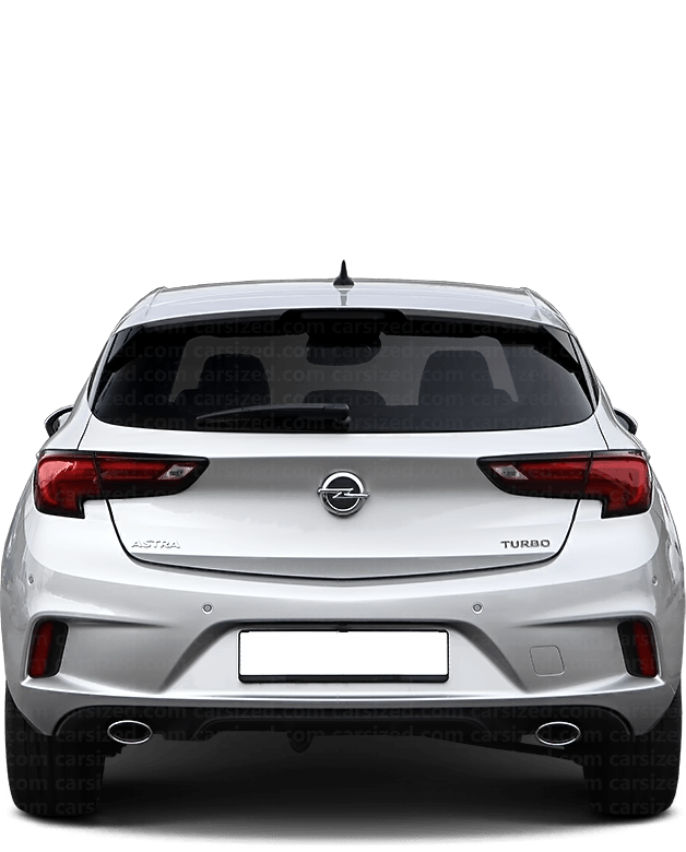 Opel Astra Hatchback 2015-present Rear View