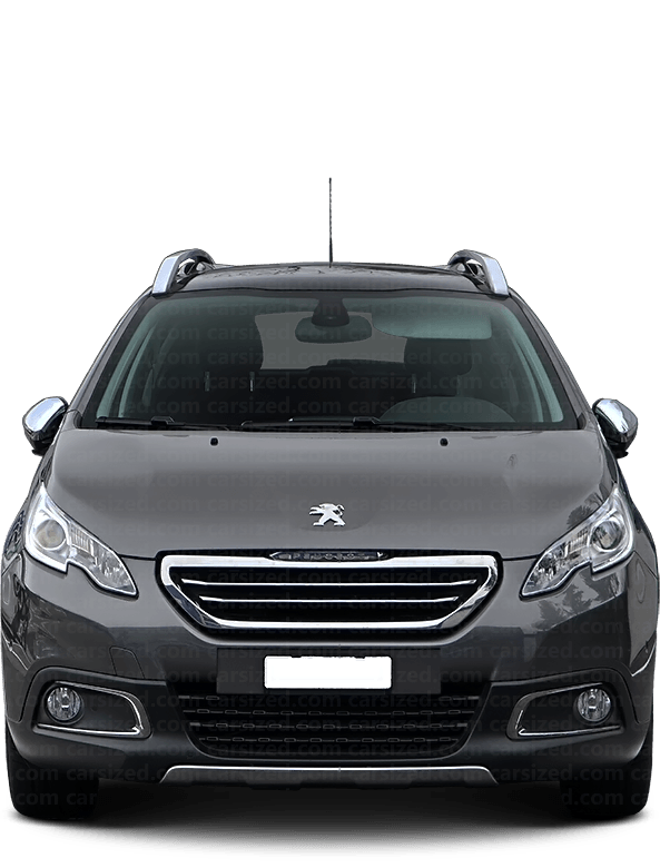 Peugeot 2008 SUV 2013-2019 Front View