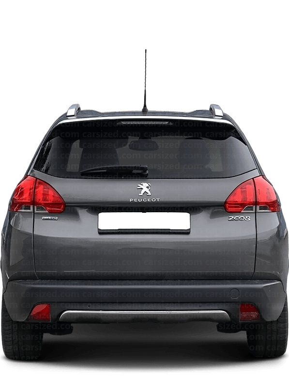 Peugeot 2008 SUV 2013-2019 Rear View