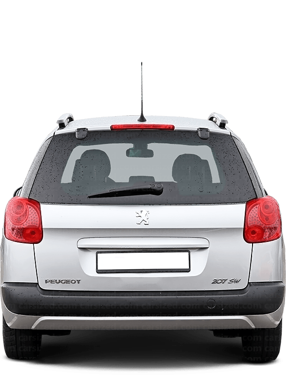Peugeot 207 Estate 2006-2014 Rear View