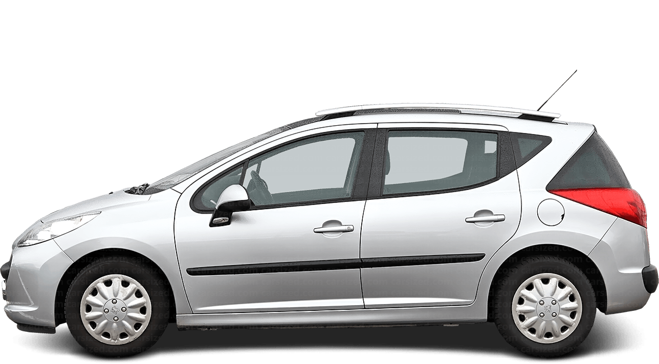 Peugeot 207 Estate 2006-2014 Side View