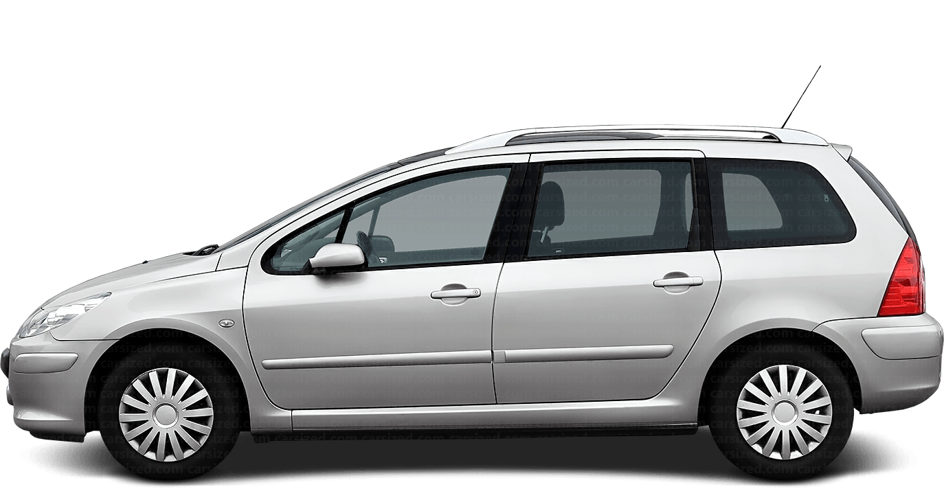 Peugeot 307 Estate 2001-2008 Side View