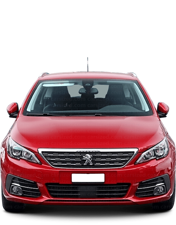 Peugeot 308 Estate 2013-present Front View