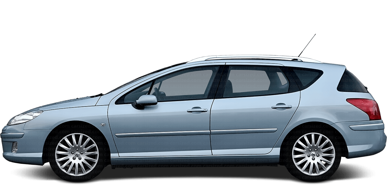 Peugeot 407 Estate 2003-2010 Side View