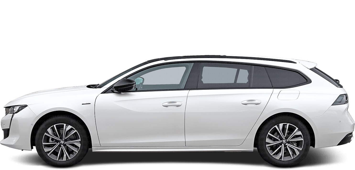 Peugeot 508 Estate 2018-present Side View