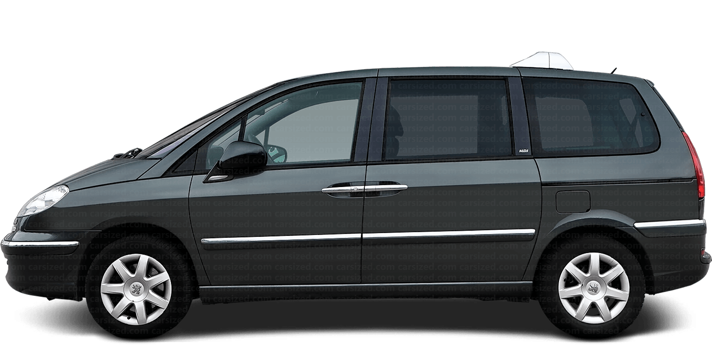 Peugeot 807 Minivan 2008-2014 Side View