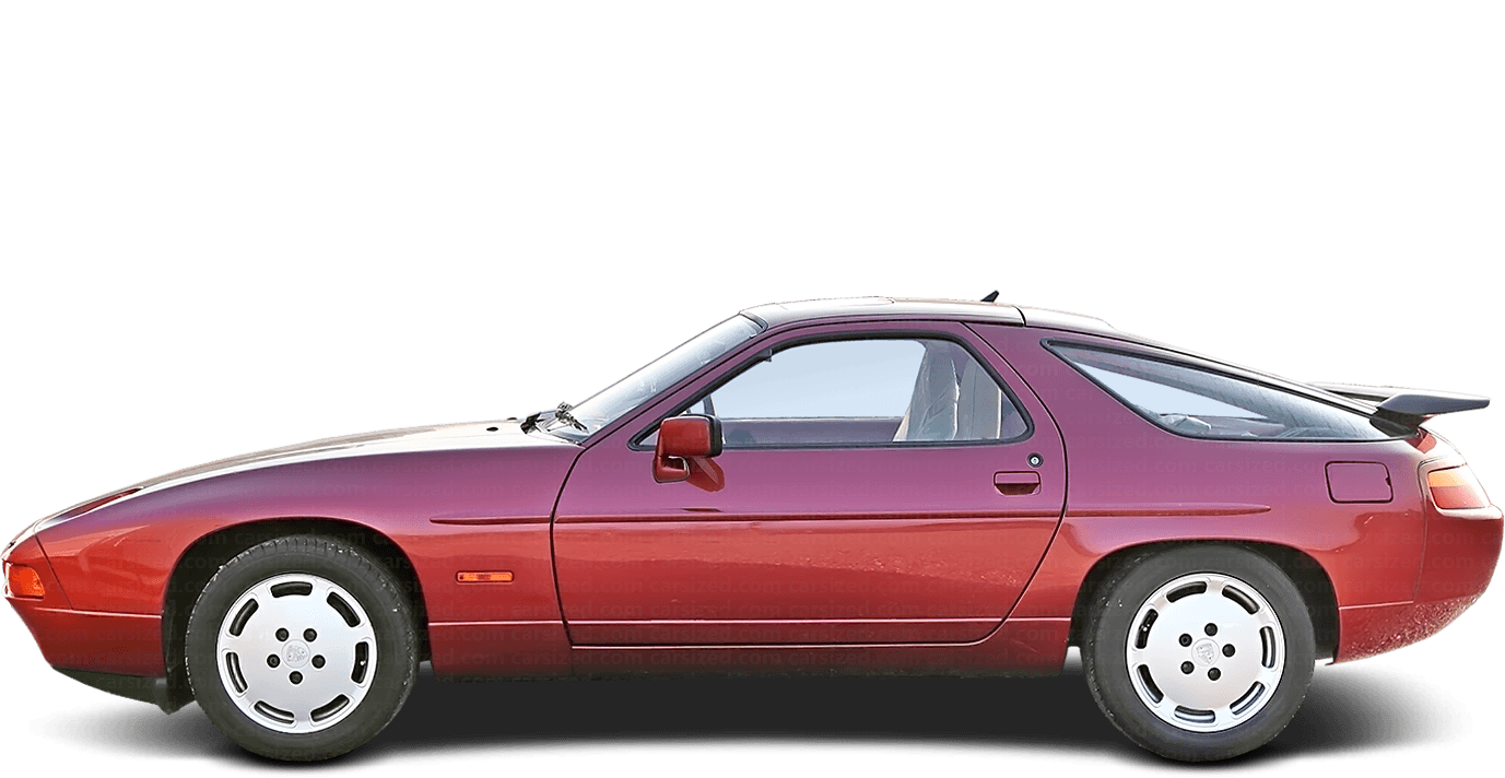 Porsche 928 coupé 1987-1995 Side View
