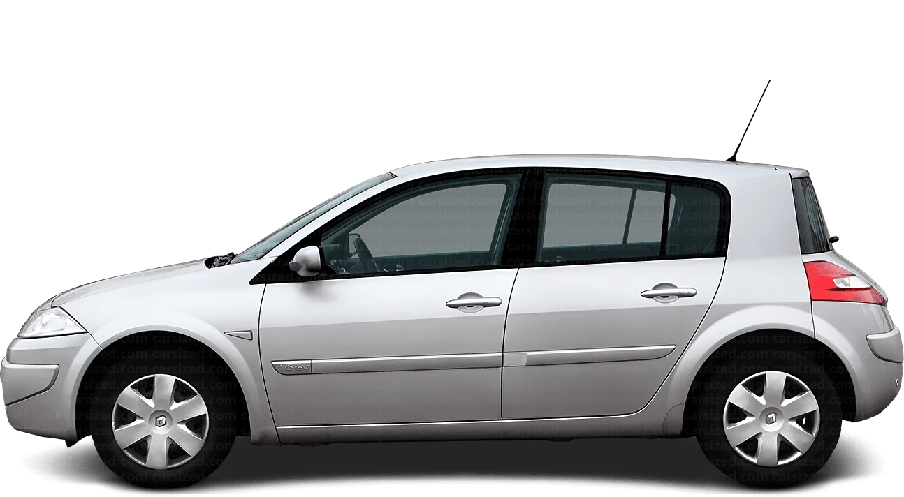 Renault Megane Hatchback 2002-2009 Side View