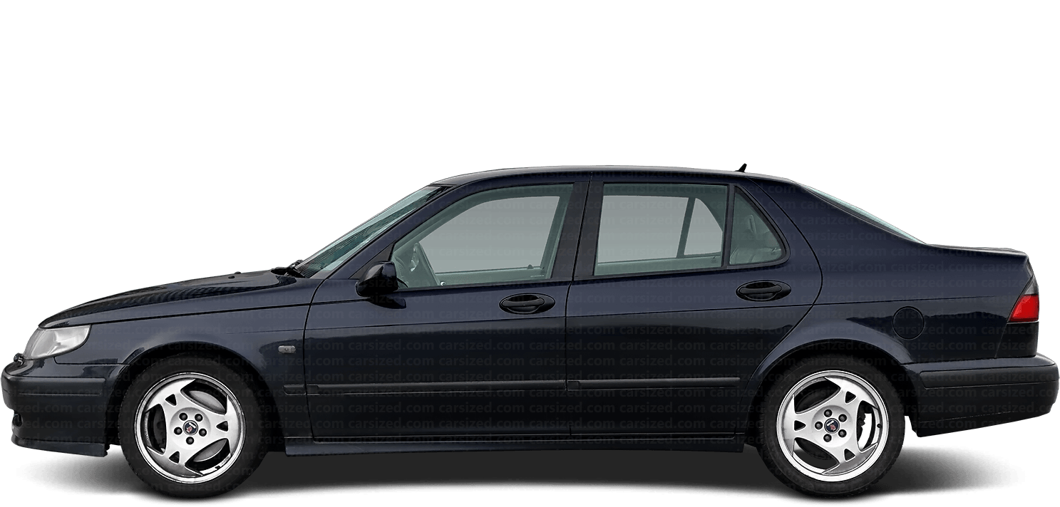 Saab 9-5 Sedan 1997-2001 Side View