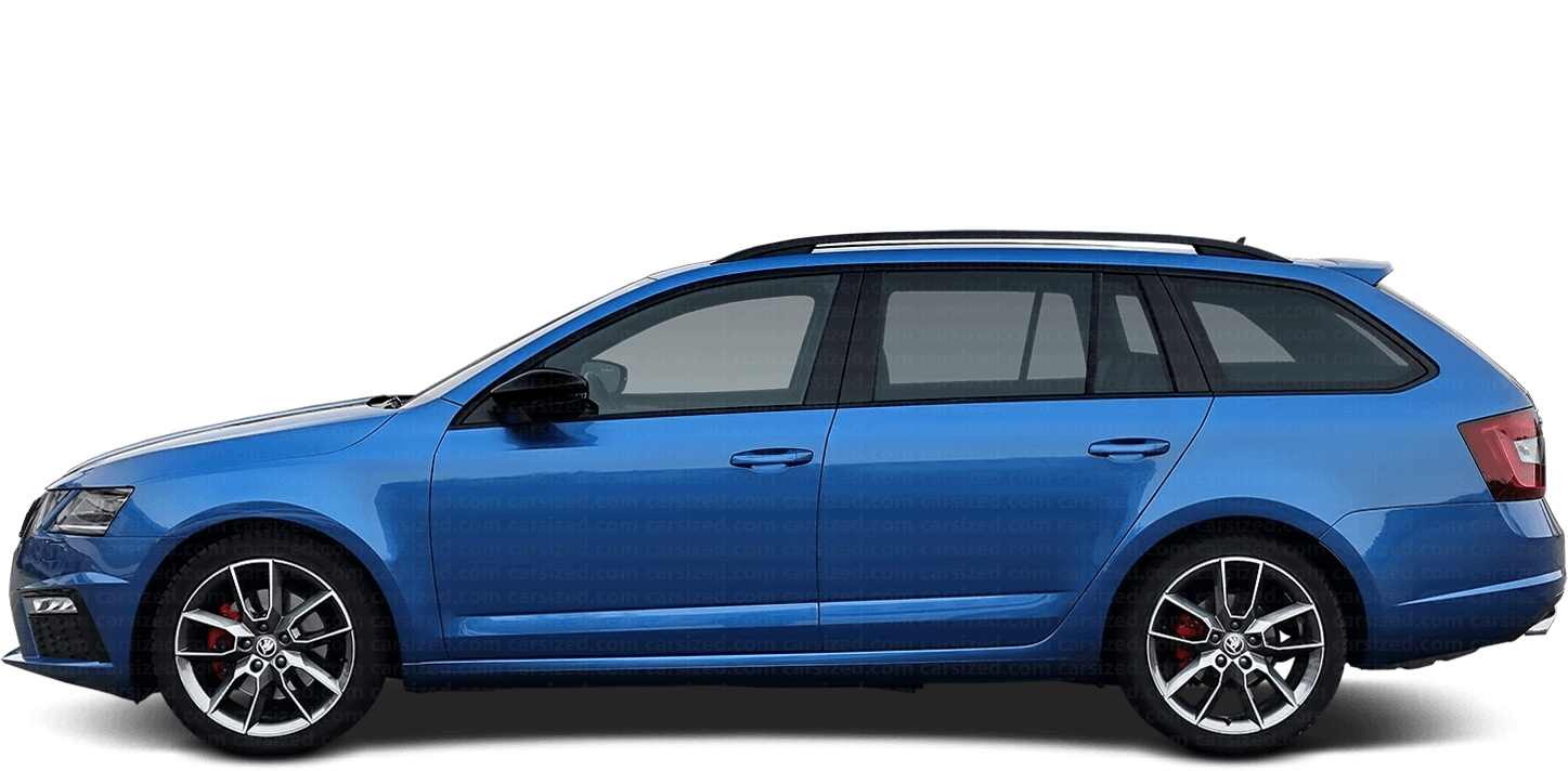 Skoda Octavia Estate 2012-2019 Side View