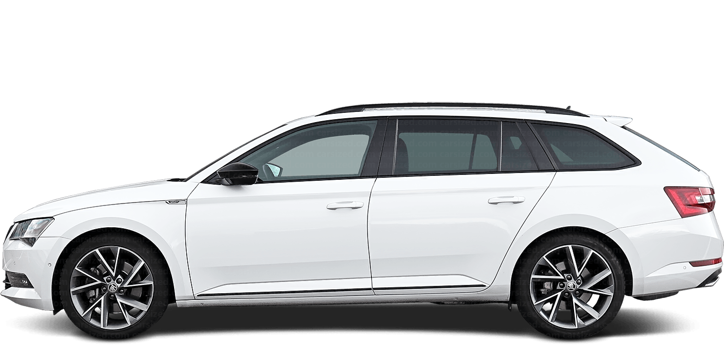 Skoda Superb Estate 2015-present Side View
