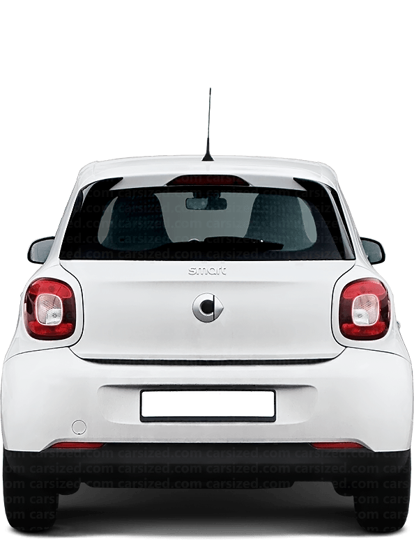 Smart Forfour Hatchback 2014-2019 Rear View