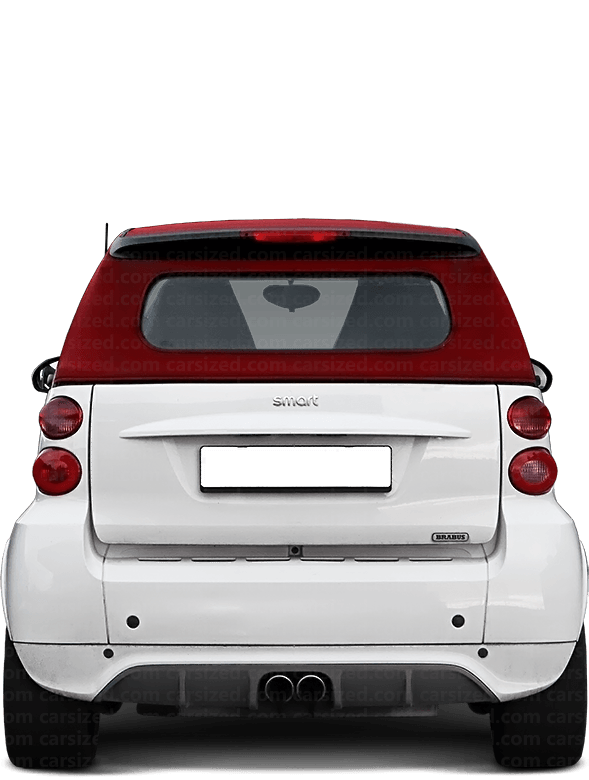 Smart ForTwo Cabriolet 2007-2010 Rear View