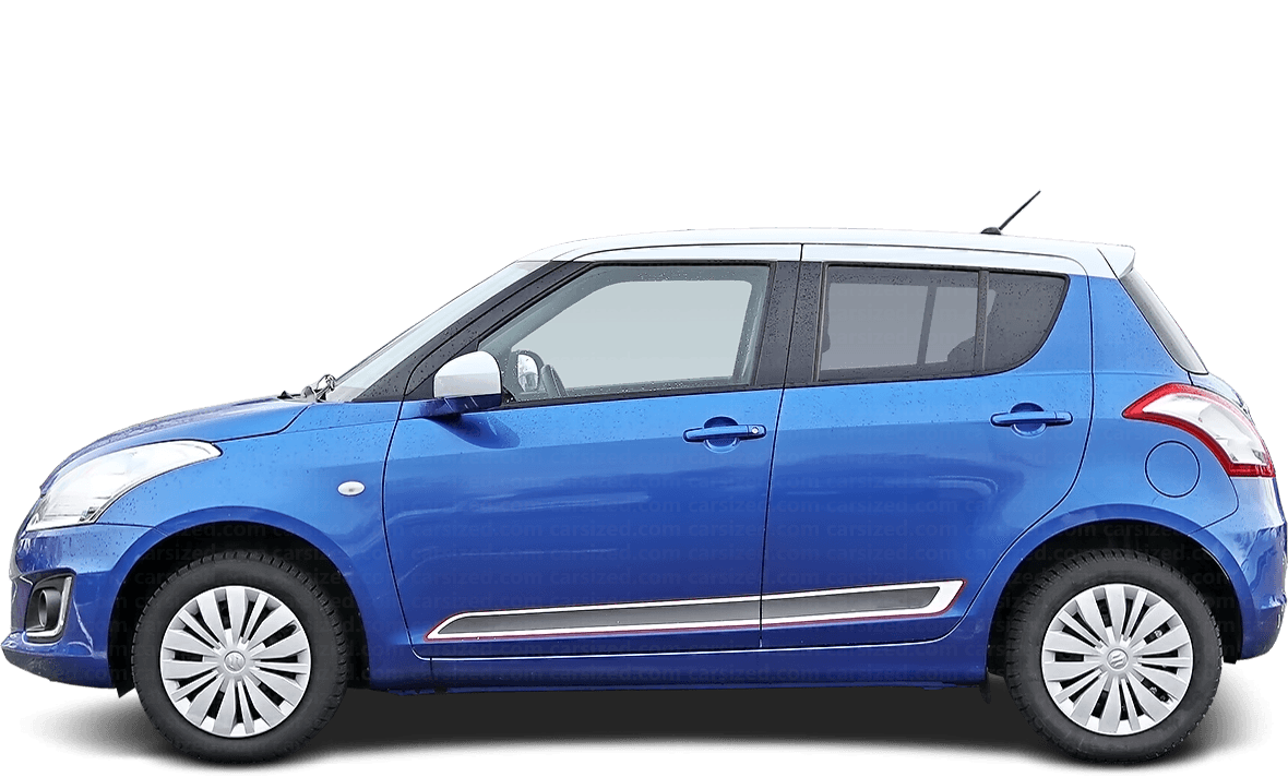 Suzuki Swift Hatchback 2010-2017 Side View