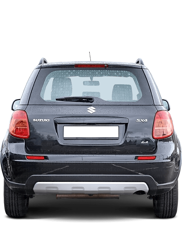 Suzuki SX4 Hatchback 2006-2014 Rear View