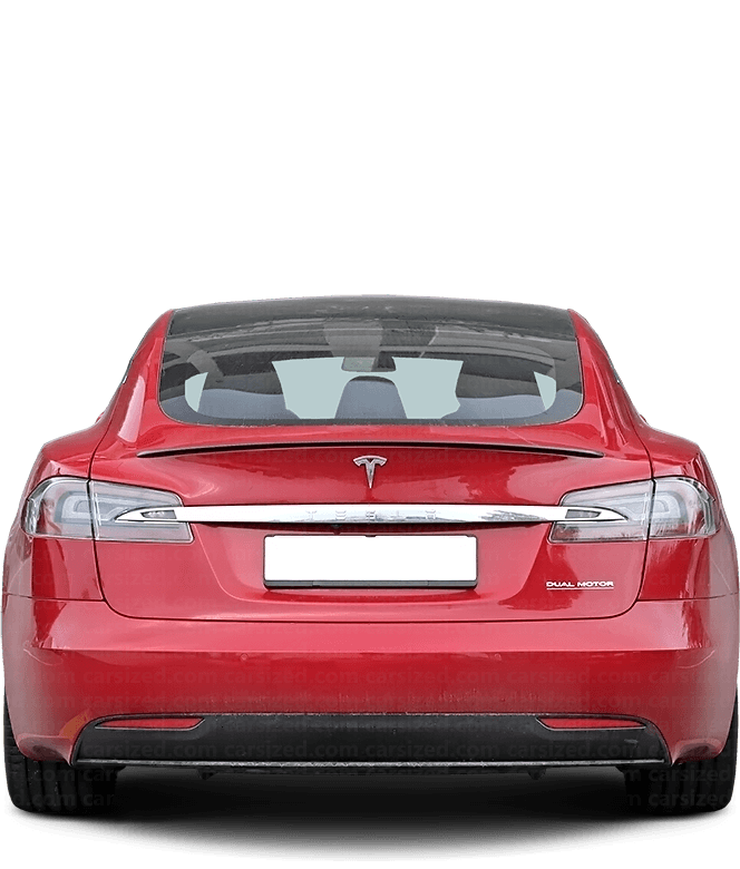 Tesla Model S Liftback 2012-present Rear View
