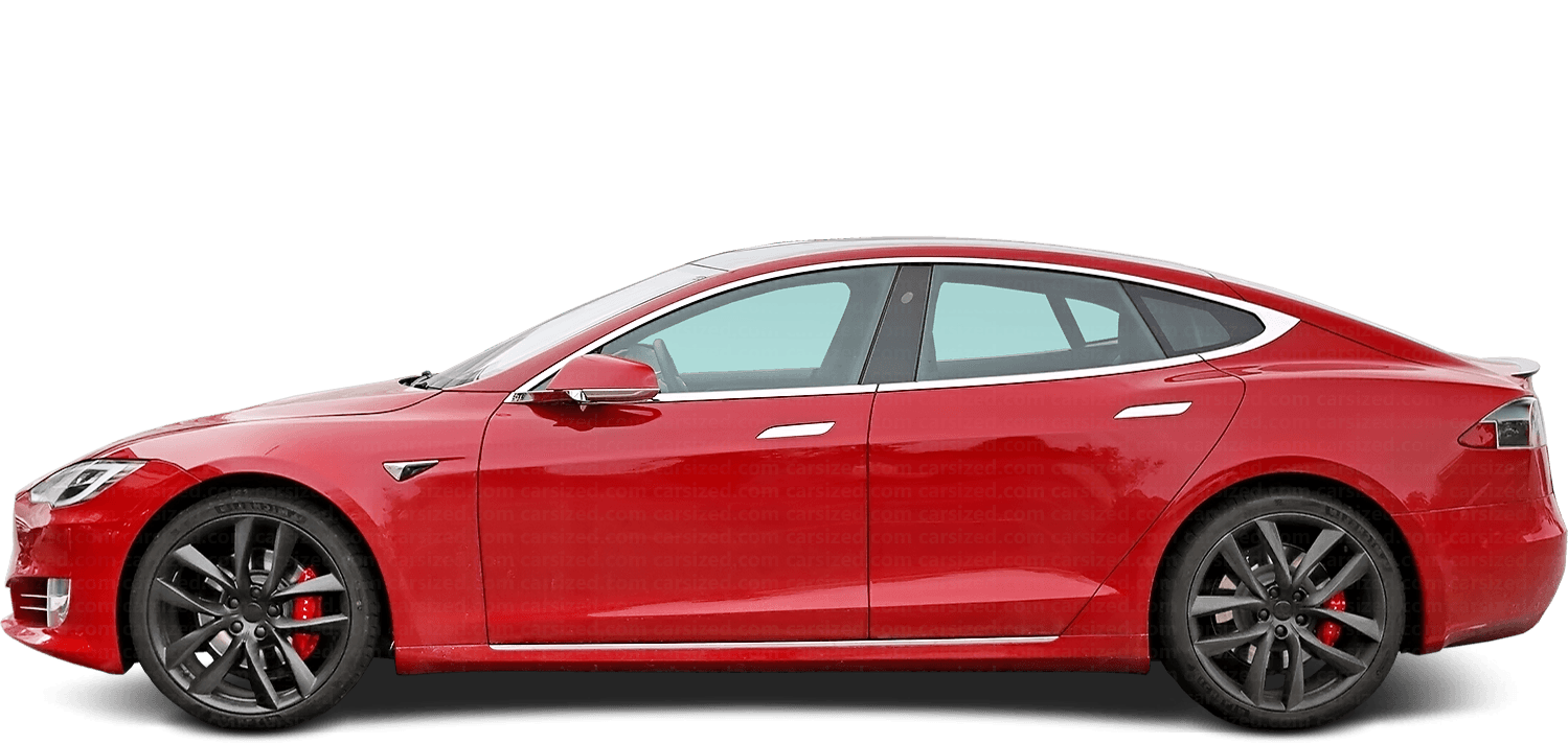 Tesla Model S Liftback 2012-present Side View