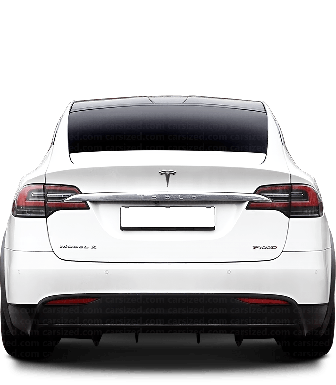 Tesla Model X SUV 2015-present Rear View