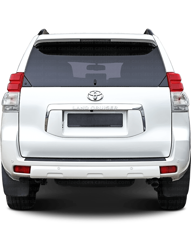 Toyota Land Cruiser Prado SUV 2009-present Rear View