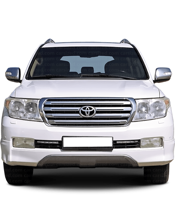 Toyota Land Cruiser SUV 2007-2012 Front View