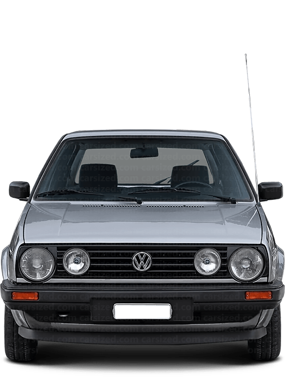 Volkswagen Golf Hatchback 1983-1992 Front View