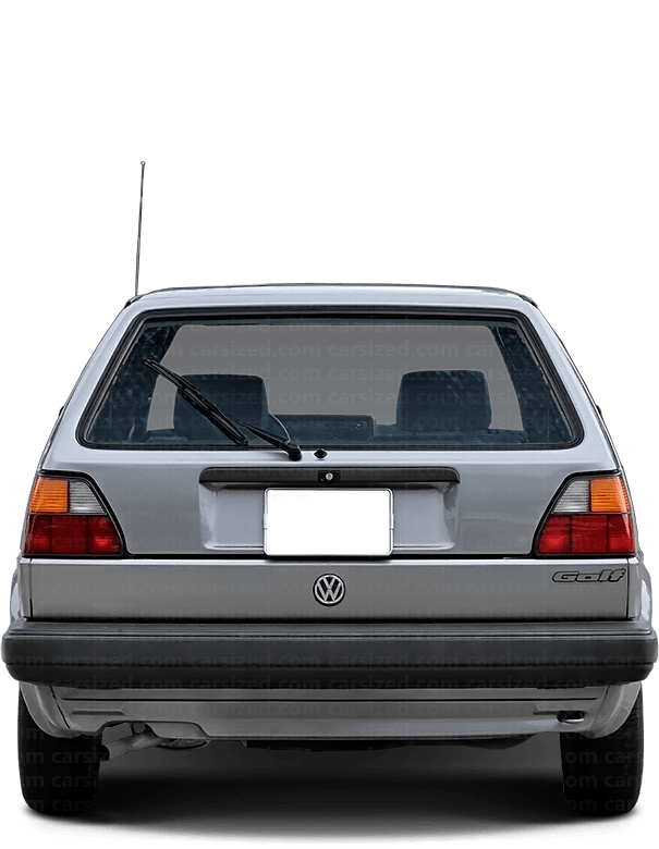 Volkswagen Golf Hatchback 1983-1992 Rear View