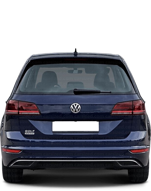 Volkswagen Golf Minivan 2013-present Rear View