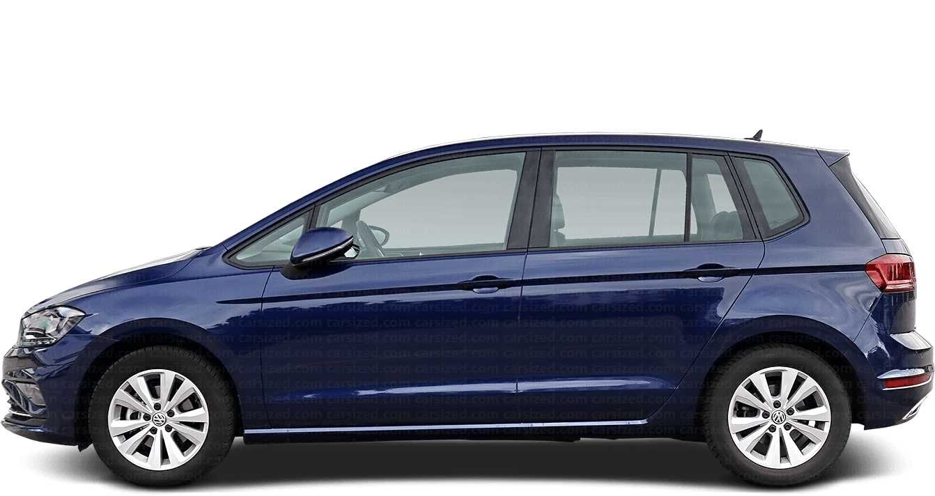 Volkswagen Golf Minivan 2013-present Side View