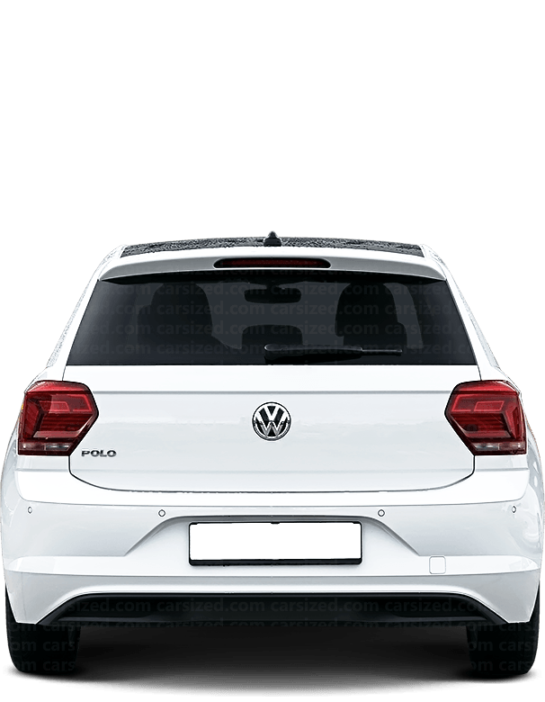Volkswagen Polo Hatchback 2018-present Rear View